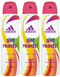 Adidas Get Ready! Cool & Care Deodorant Body Spray for Women, 150ml (Pack of 3)