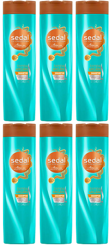 Sedal Co-Creations por Thomas Bomba Argan Shampoo, 340 ml (Pack of 6)