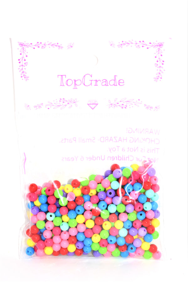 6mm Assorted Colors Acrylic Beads, 450 ct.