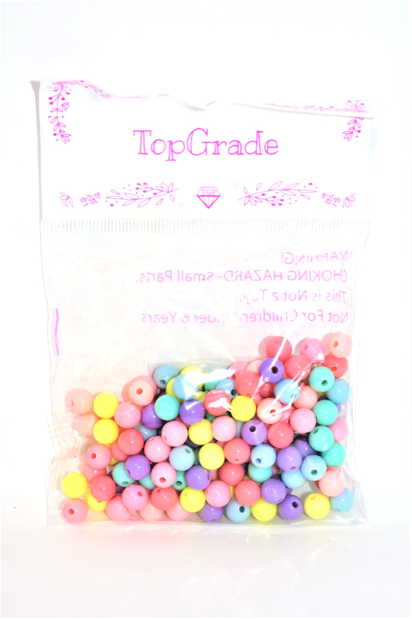 8mm Assorted Colors Acrylic Beads, 150 ct.