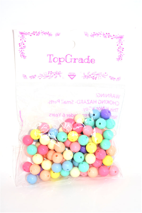 10mm Assorted Colors Acrylic Beads, 100 ct.