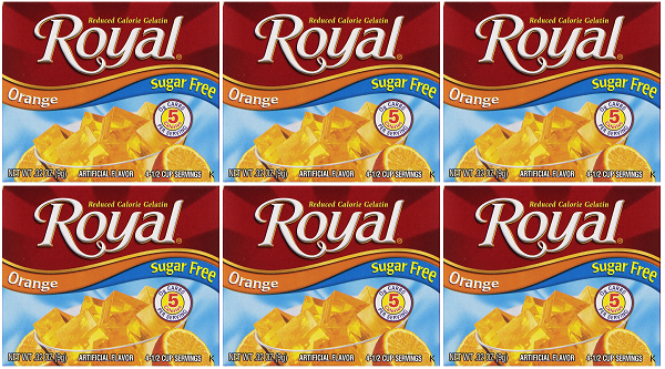 Royal Orange Sugar Free, 0.32 oz (Pack of 6)