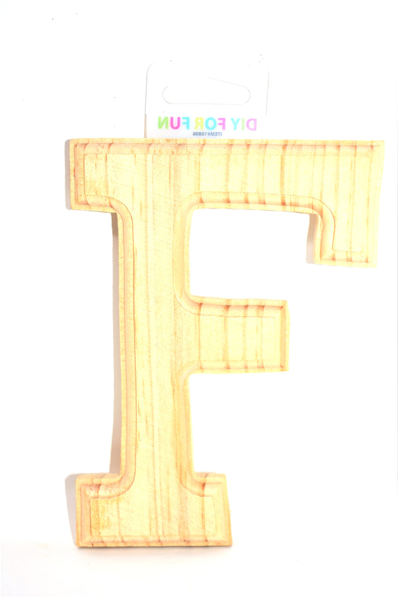 "6"" Wood Crafted Letter ""F"""