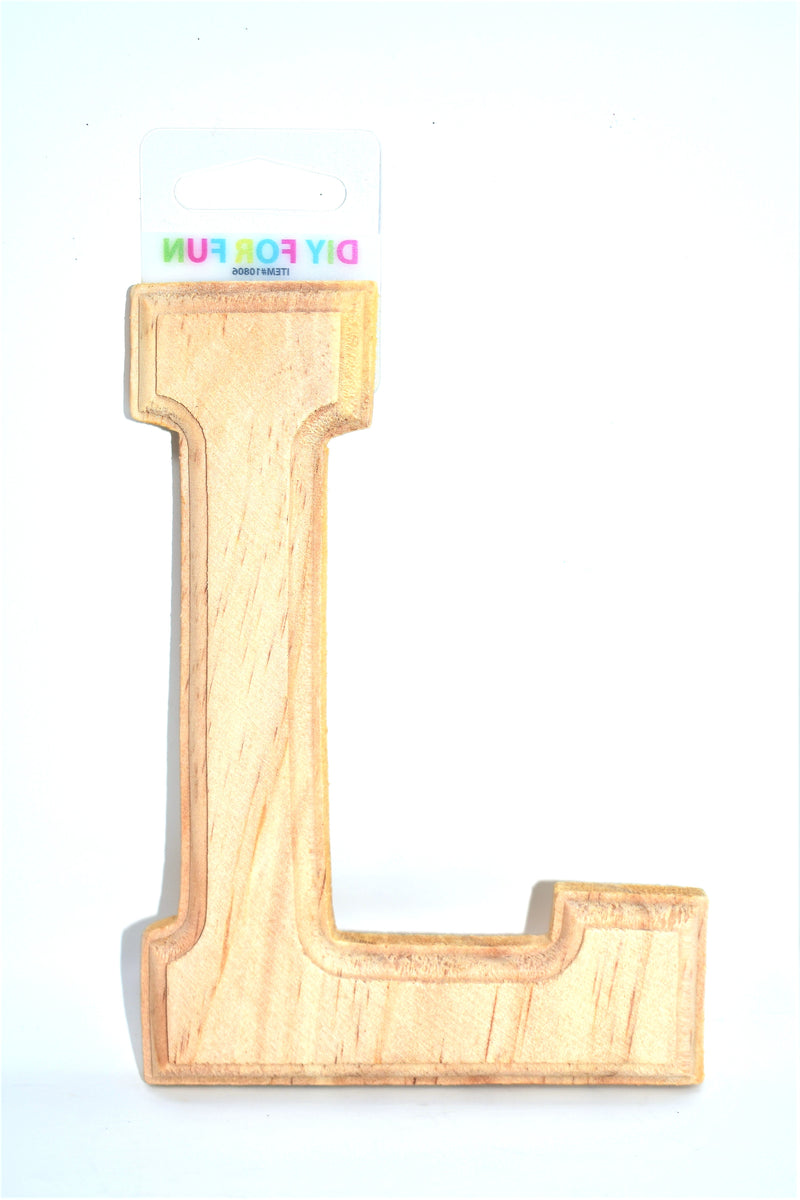 "6"" Wood Crafted Letter ""L"""