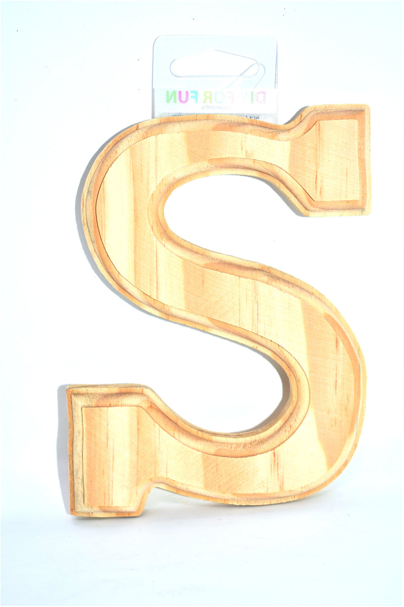 "6"" Wood Crafted Letter ""S"""