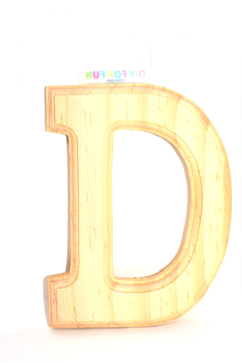 "6"" Wood Crafted Letter ""D"""