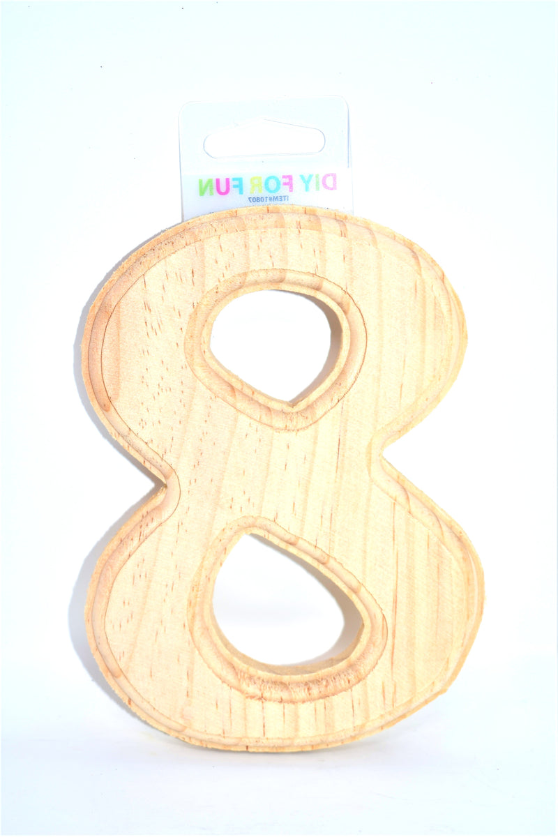 "6"" Wood Crafted Number ""8"""