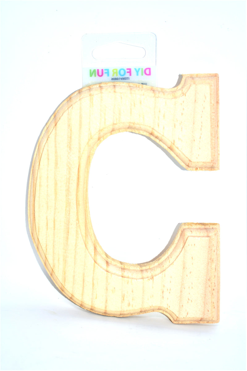 "6"" Wood Crafted Letter ""C"""