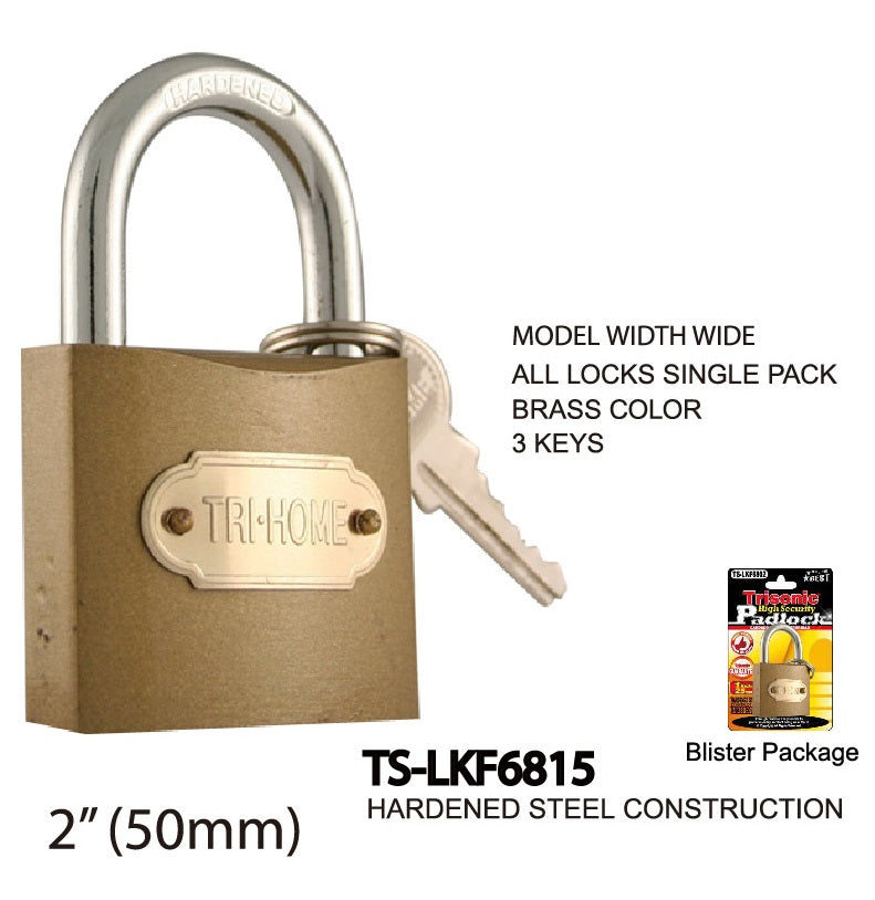 High Security Padlock With Keys, 50 mm