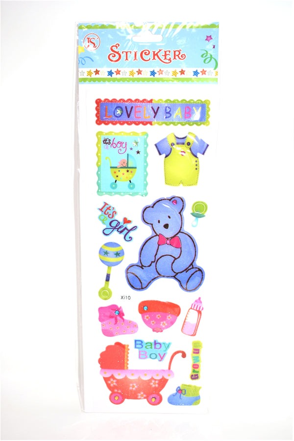 Fancy Baby Shower Stickers, Assorted Designs
