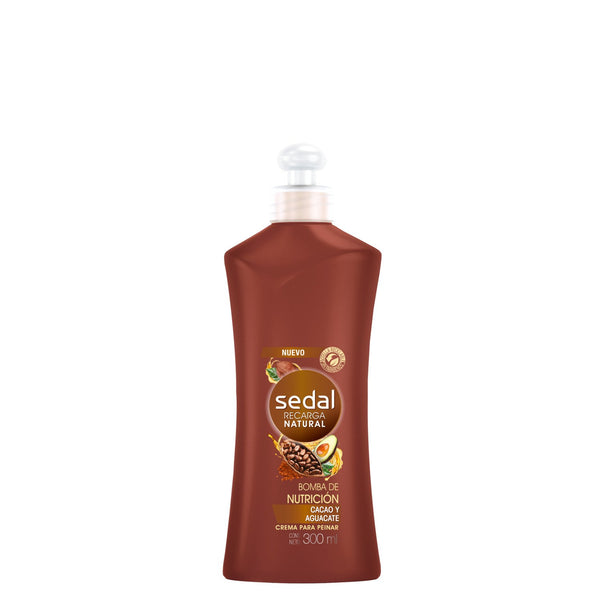 Sedal Recarga Natural Bomba De Nuticion Cacao Y Aquacate, 300 ml