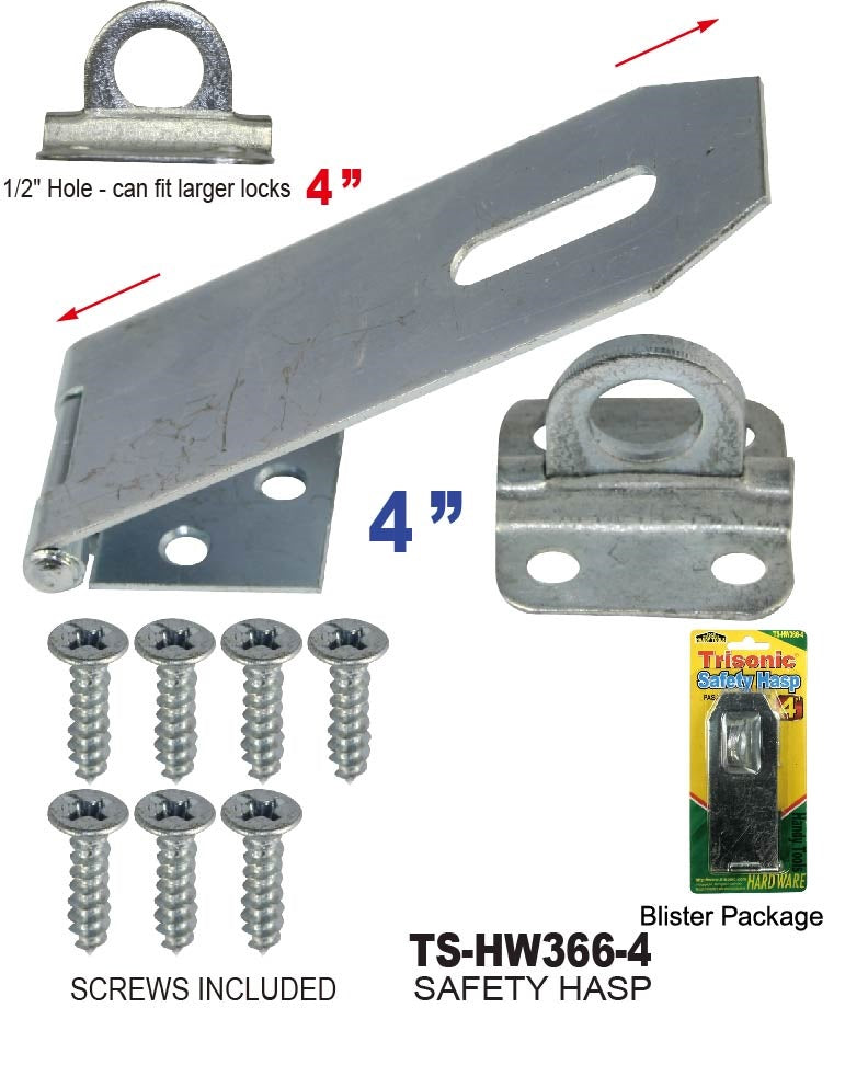 "4"" Safety Hasp"