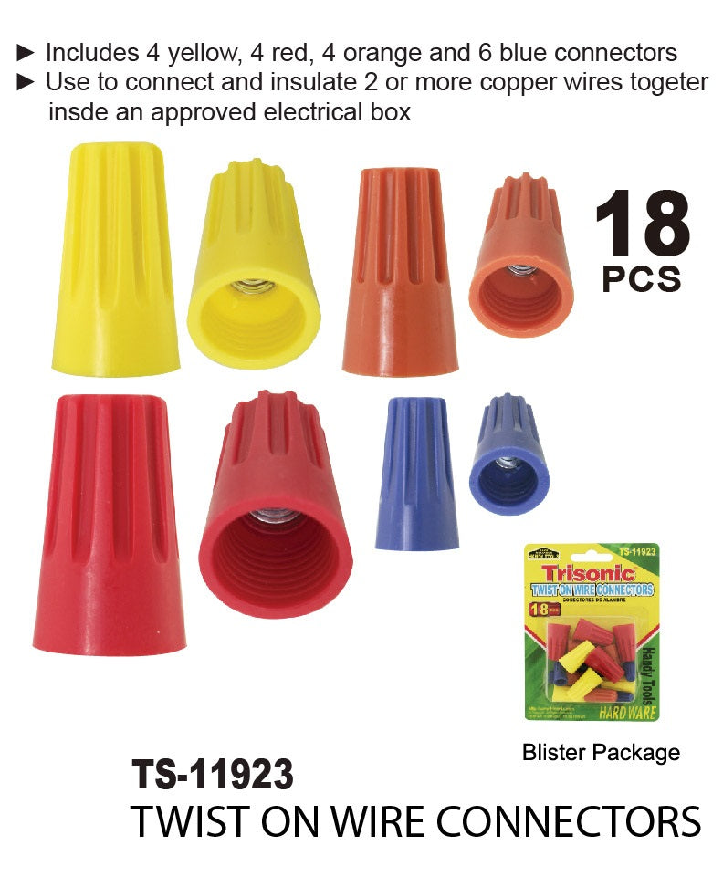 Twist On Wire Connectors, 18-ct.