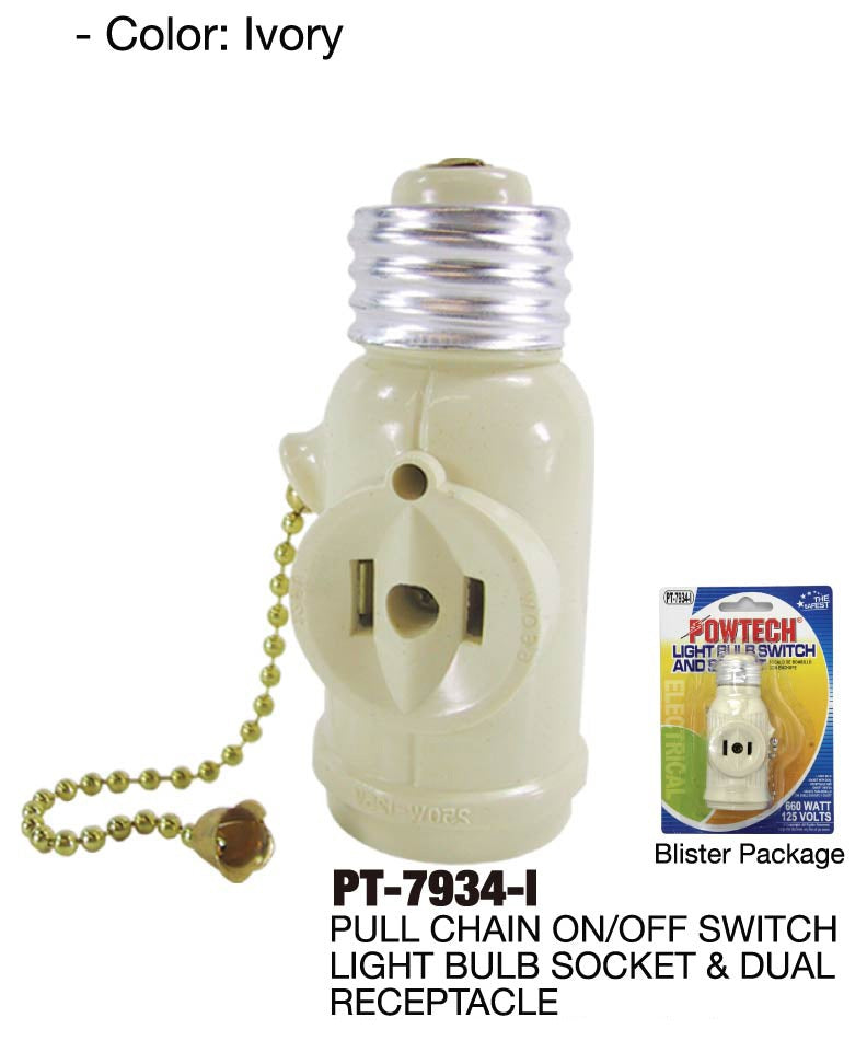 Light Bulb Switch and Outlet