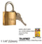 High Security Padlock With Keys, Gold-Plated, 32 mm