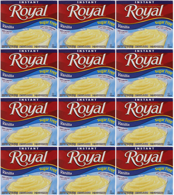 Royal Vanilla Sugar Free, 1.69 oz (Pack of 12)