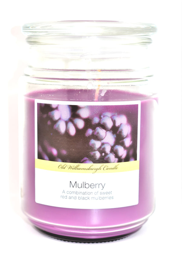 Old Williamsburgh Candle Mulberry Scent, 18 oz.