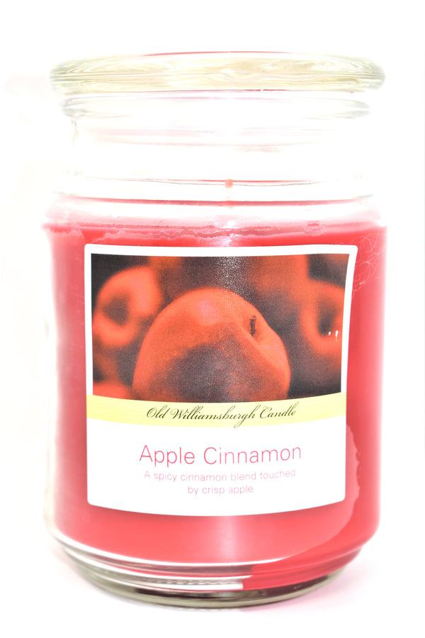 Old Williamsburgh Candle Apple Cinnamon Scent, 18 oz.