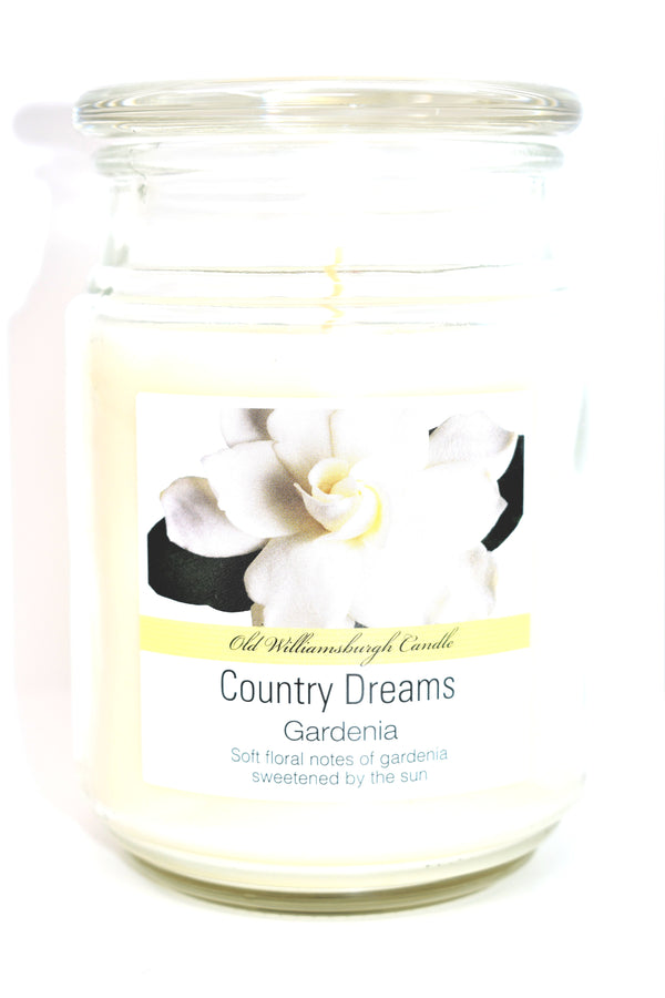 Old Williamsburgh Candle Country Dreams Gardenia Scent, 18 oz.