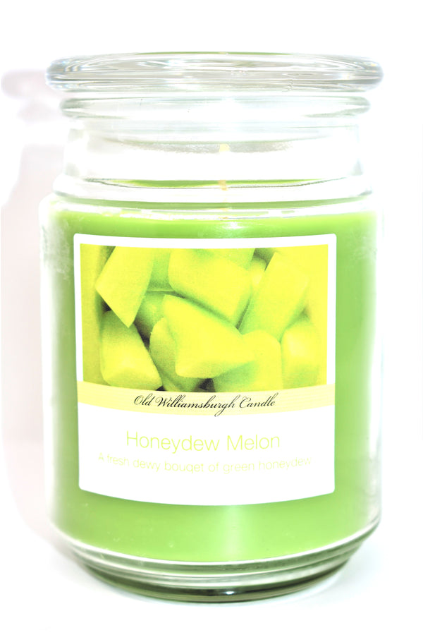 Old Williamsburgh Candle Honeydew Melon Scent, 18 oz.