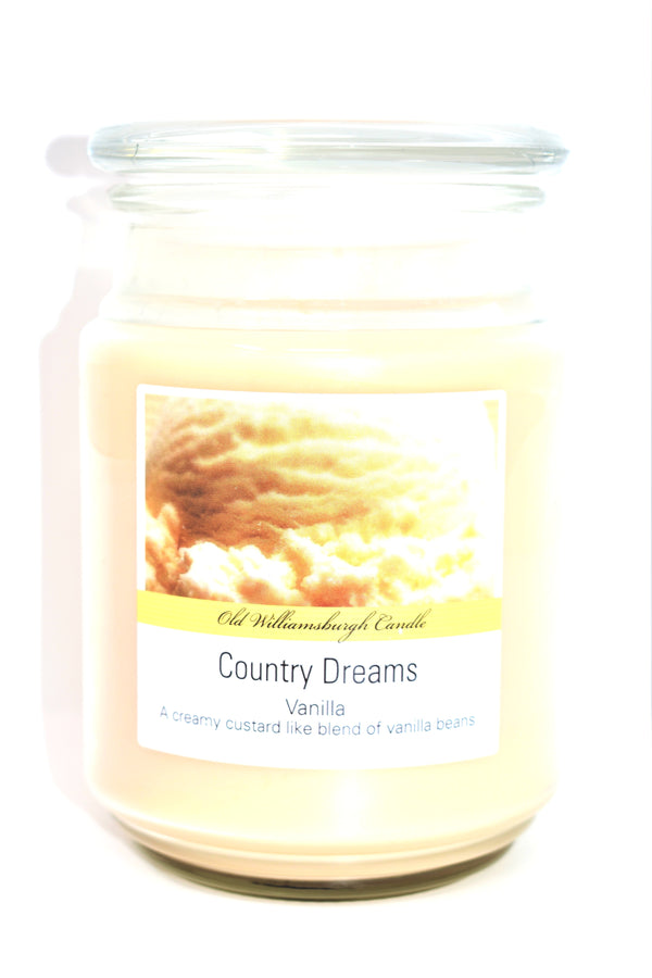 Old Williamsburgh Candle Country Dreams Vanilla Scent, 18 oz.