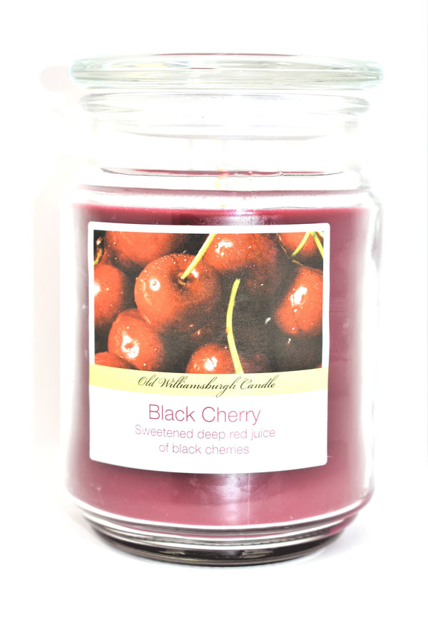 Old Williamsburgh Candle Black Cherry Scent, 18 oz.