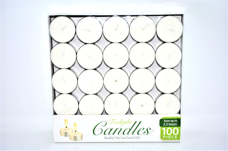 White Tealight Candles, 100 ct.