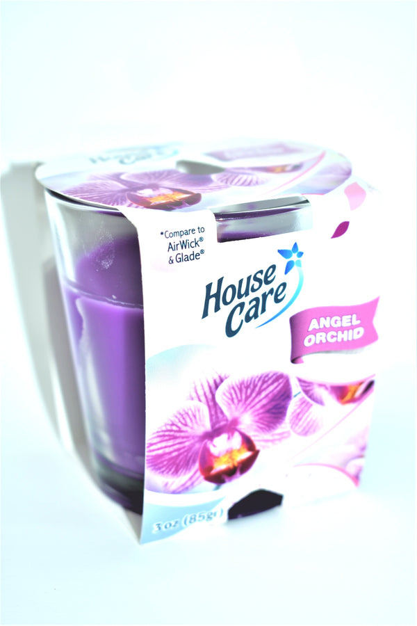 House Care Angel Orchid Jar Candle, 3 oz