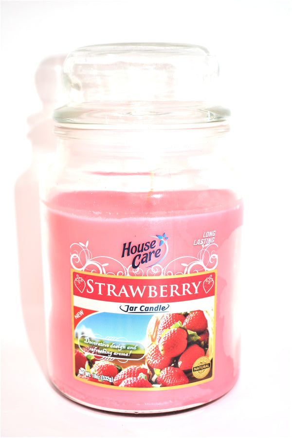 House Care Strawberry Jar Candle, 18 oz.