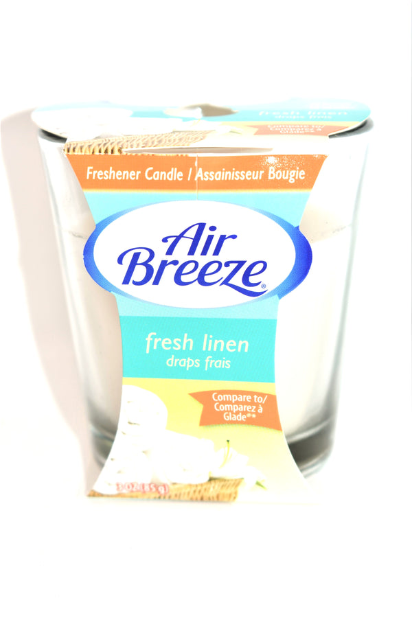Air Breeze Fresh Linen Jar Candle, 3 oz.