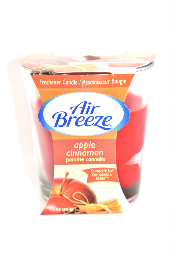 Air Breeze Apple Cinnamon Jar Candle, 3 oz.