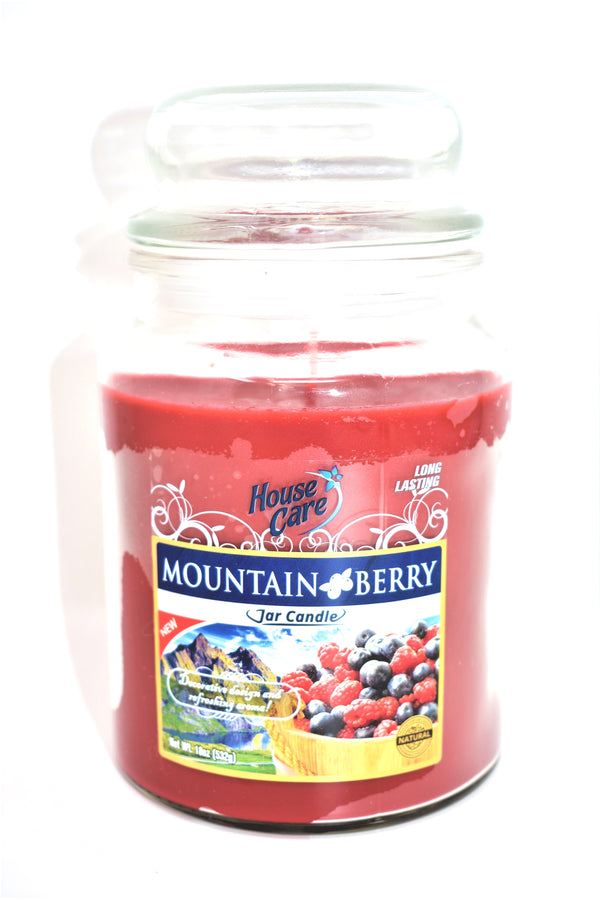 House Care Mountain Berry Jar Candle, 18 oz.