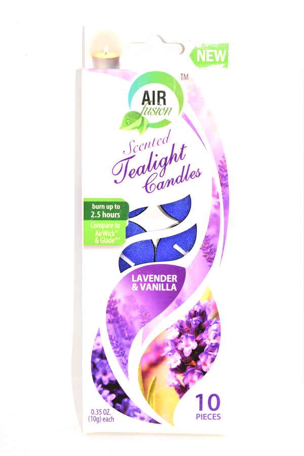 Air Fusion Lavender & Vanilla Scented Tealight Candles, 10 ct.