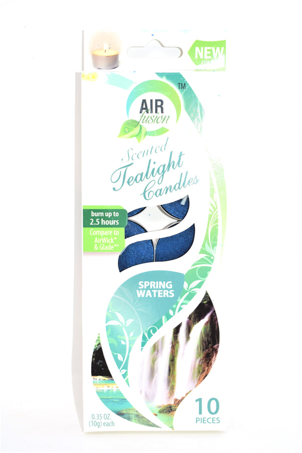 Air Fusion Spring Waters Scented Tealight Candles, 10 ct.