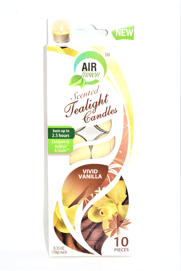 Air Fusion Vivid Vanilla Scented Tealight Candles, 10 ct.