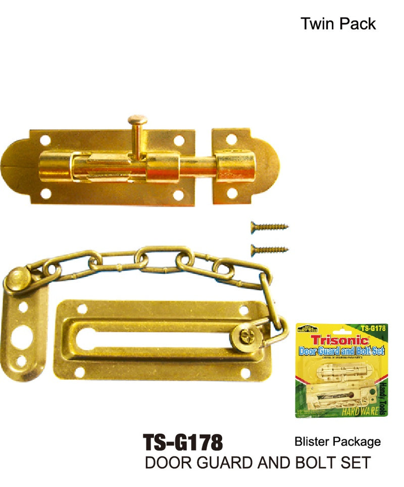 Door Guard Chain and Bolt Set