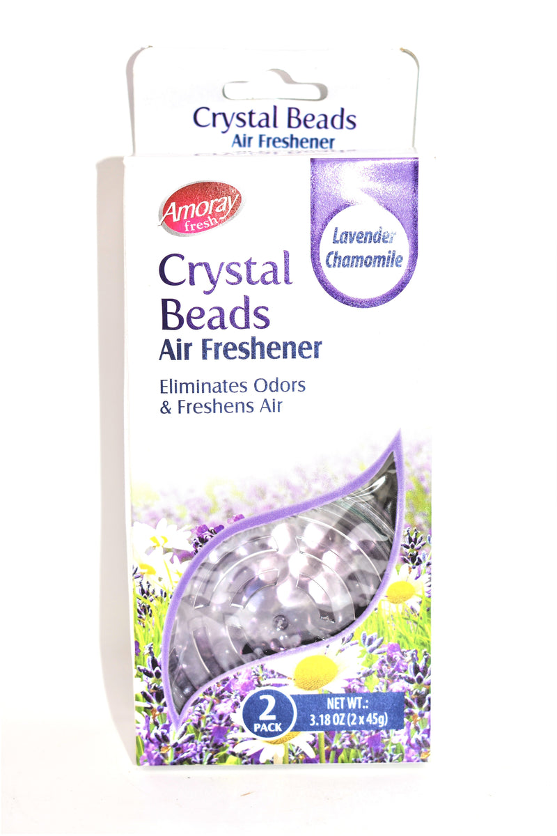 Amoray Fresh Crystal Beads Air Freshener Lavender Chamomile Scent, 2 Pack