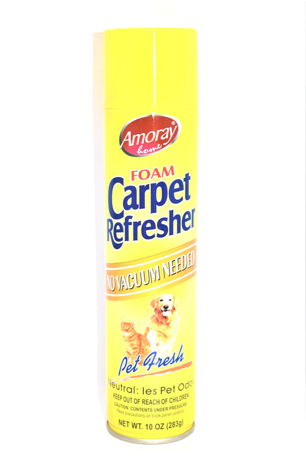 Amoray Foam Carpet Refresher Pet Fresh Scent, 10 oz.