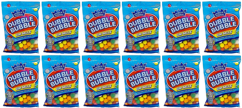 America's Original Dubble Bubble Gum Balls, 5oz (Pack of 12)