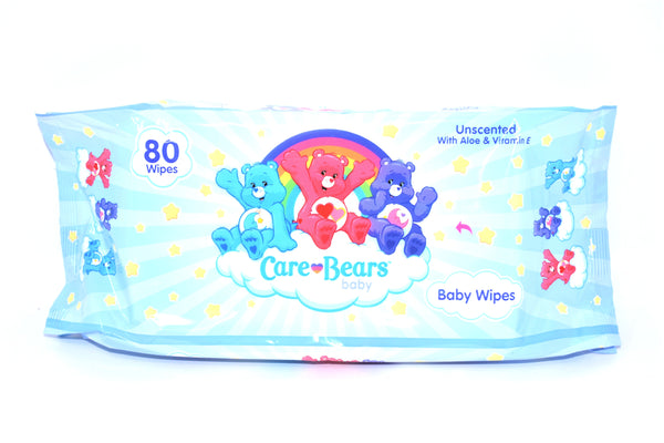 Care Bears Unscented Baby Wipes, 80 ct.