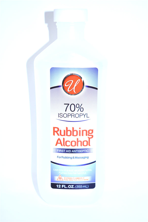 Universal 70% Isopropyl Rubbing Alcohol, 12 fl oz.