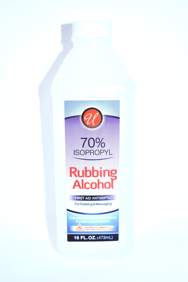 Universal 70% Isopropyl Rubbing Alcohol, 16 fl oz.