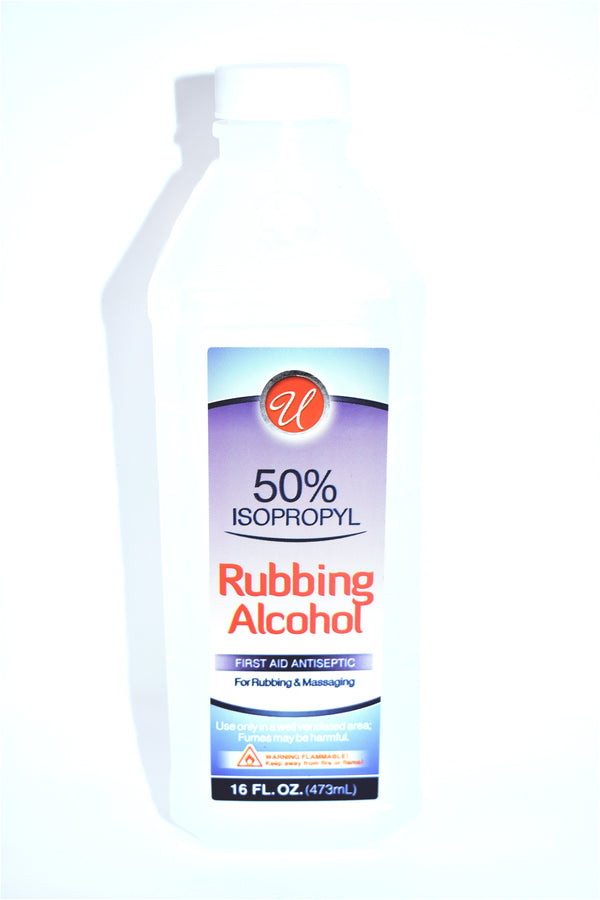 Universal 50% Isopropyl Rubbing Alcohol, 16 fl oz.