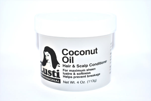 Lusti Professional Coconut Oil Hair and Scalp Conditioner, 4 oz.
