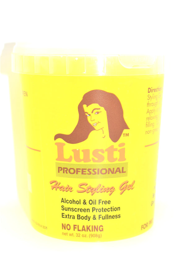 Lusti Professional Yellow Hair Styling Gel, 32 oz.