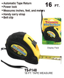 16 Foot Ergonomic Tape Measure, 16 ft.