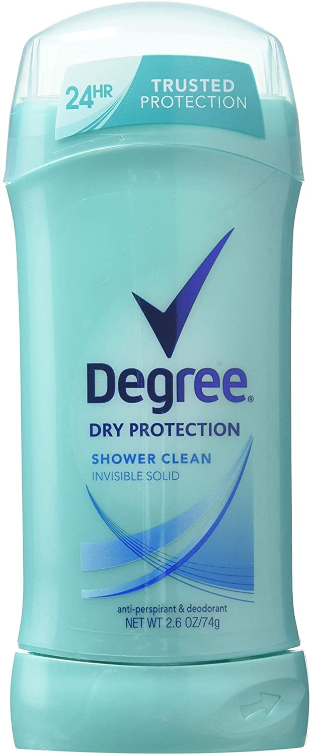 Degree Dry Protection Shower Clean Invisible Solid Deodorant, 2.6 oz
