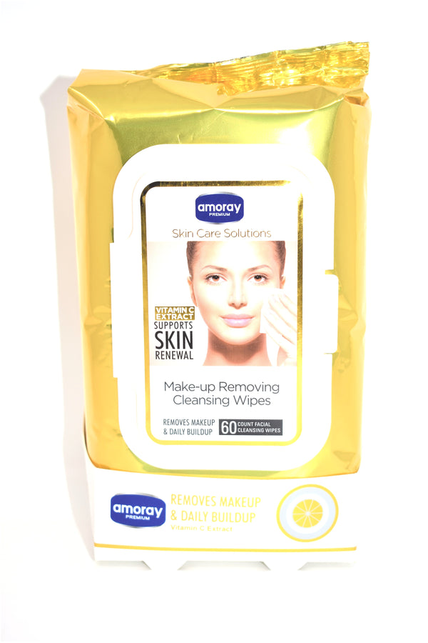 Vitamin C Extract Skin Care Solution Make-up Removing Cleansing Wipes, 60 ct.