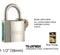 High Security Padlock With Keys, Chrome-Plated, 40 mm