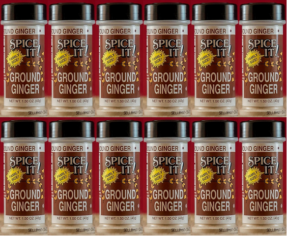 Spice It Family Size Ground Ginger, 1.25 oz (Pack of 12)